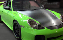 View our SWF 900 Supreme Wrapping Film wrapped on a green Porsche