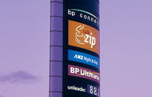 BP gas Station Sign Tower