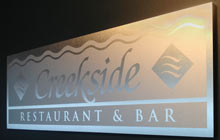 creekside metallic sign