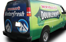 Wrigley's wrapped van