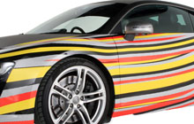 Striped Car Wrap