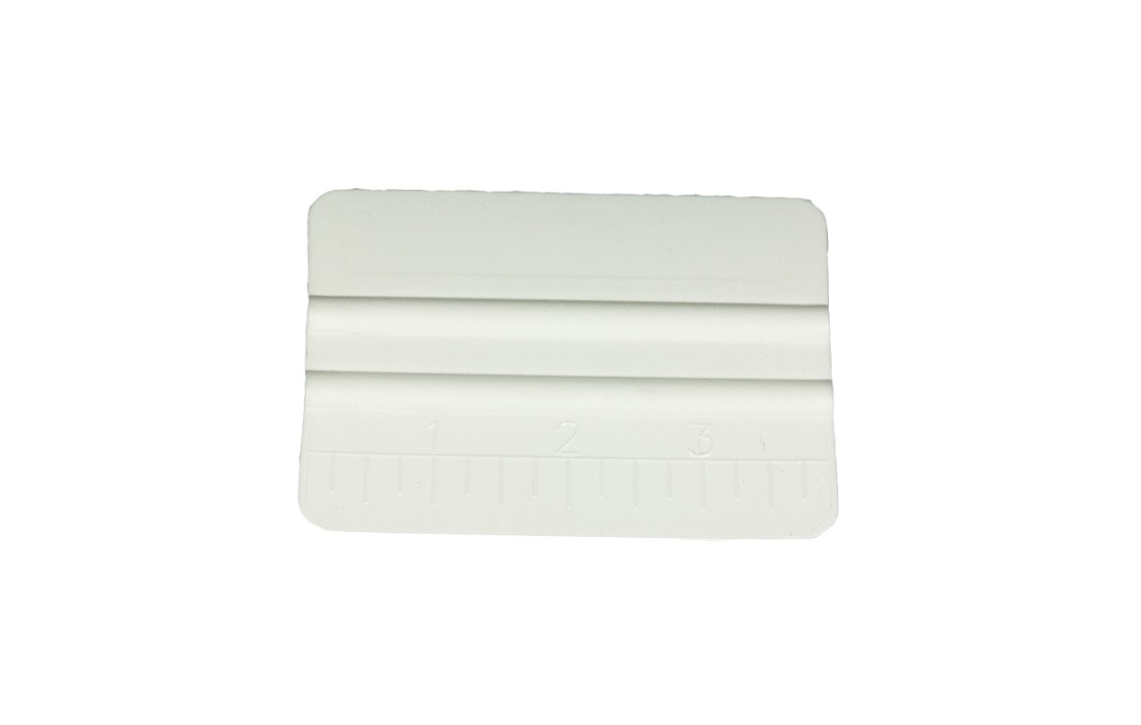 White vinyl wrap application squeegee