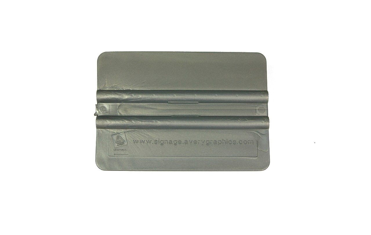 Premium silver vinyl wrap application squeegee