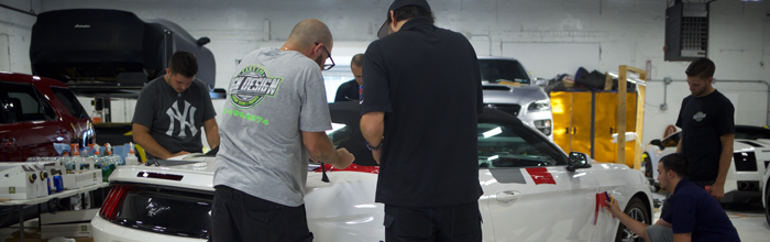 Sign up today for one of our car wrapping classes